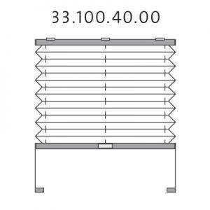 Basis plissé met montageschoenen onderkant en handgreep, bottom-up (33.100.40.00)