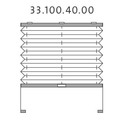 Basisplissé met montageschoentjes onderkant en handgreepbediening, bottom-up (33.100.40.00)