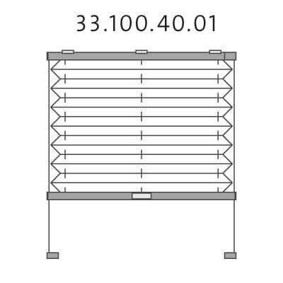 Dakraam basisplissé met montageschoentjes onderkant en handgreepbediening, bottom-up (33.100.40.01)