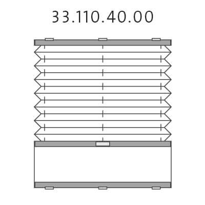 Basisplissé met montageprofiel onderkant en handgreepbediening, bottom-up (33.110.40.00)