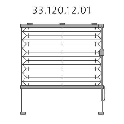 Basis plissé met montageschoenen onderkant en trekkoord, bottom-up (33.120.12.01)
