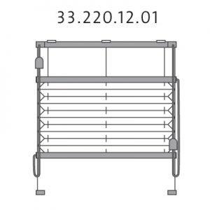 Vrijhangend plissé met montageschoenen onderkant en trekkoord, top-down en bottom-up (33.220.12.01)