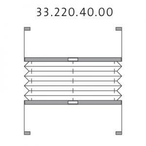 Vrijhangend plissé met montageschoenen en handgreep, top-down en bottom-up (33.220.40.00)