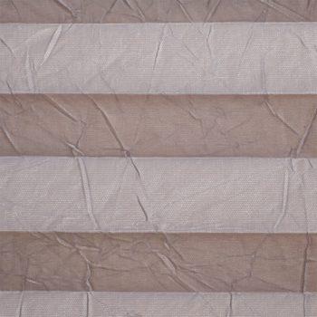 Koepel plisségordijn grijs met kreukelstructuur en zilveren achterzijde 720095 - Plisségordijn grijs met kreukelstructuur en zilveren achterzijde 720095