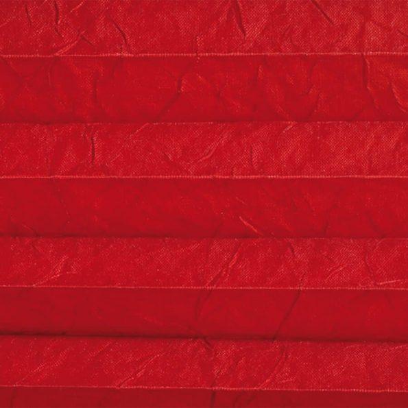 Koepel plisségordijn rood met kreukelstructuur en glanzende achterzijde 720099 - Plisségordijn rood met kreukelstructuur en glanzende achterzijde 720099