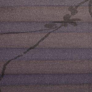 Plisségordijn paars met print 720109