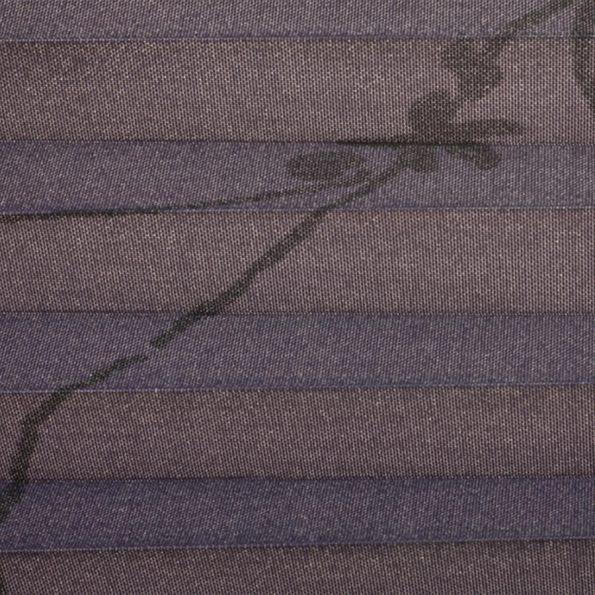 Koepel plisségordijn paars met print 720109 - Plisségordijn paars met print 720109