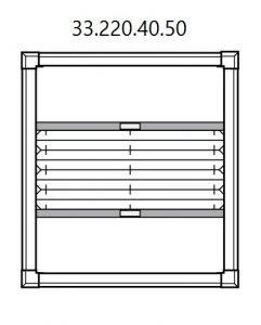 Vrijhangend smartfit plissé met handgreep, top down en bottom-up (33.220.40.50)