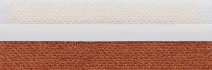 Honingraat plissé Basic 720126, reflectie 43%, transparantie 19%, absorptie 38% – bruin