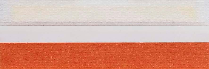 Honingraat plissé Basic 720133, reflectie 49%, transparantie 17%, absorptie 34% – oranje