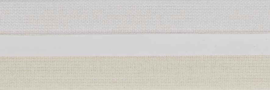 Honingraat plissé Exclusief 720414, reflectie 55%, transparantie 20%, absorptie 25% – gebroken wit/zeer licht geel