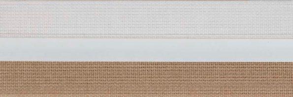 Koepel honingraat plisségordijn lichtbruin 720417 - Honingraat plisségordijn lichtbruin 720417 - Honingraat plissé Exclusief 720417, reflectie 52%, transparantie 18%, absorptie 30% - lichtbruin