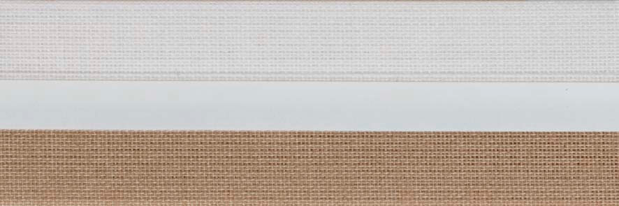 Honingraat plissé Exclusief 720417, reflectie 52%, transparantie 18%, absorptie 30% – lichtbruin