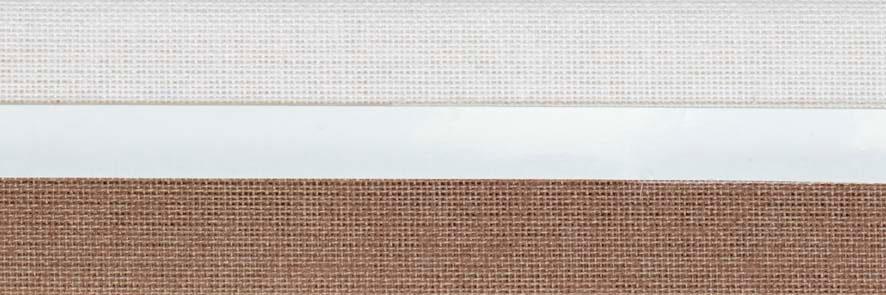 Honingraat plissé Exclusief 720418, reflectie 52%, transparantie 18%, absorptie 30% – bruin