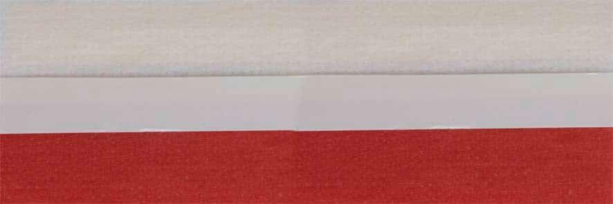 Honingraat plissé Budget 720450, reflectie 39%, transparantie 22%, absorptie 39% – rood