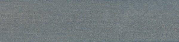 Houten jaloezie 'Basic' 301003 – Lindehout – Lichtblauw – max 2700 mm breed – kleur bovenbak: 102331 (grijs) – houten kooflijst in zelfde kleur als jaloezie