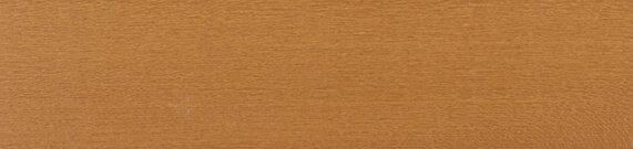 Houten jaloezie 'Basic' 301007 – Lindehout – Gouden Eik – max 2700 mm breed – kleur ladderkoord: 563 (zand) – kleur bovenbak: 10.2276 (creme) – houten kooflijst in zelfde kleur als lamellen