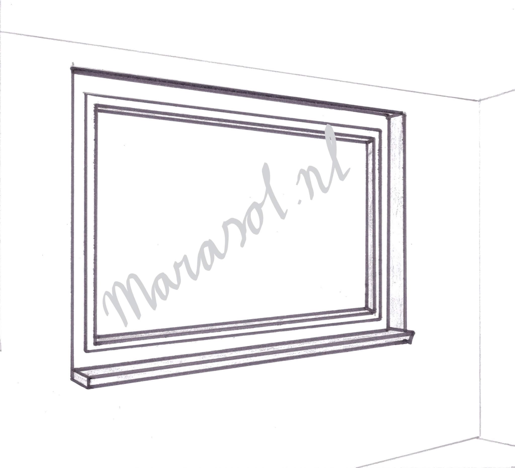 Breed raam tot maximaal 3 meter