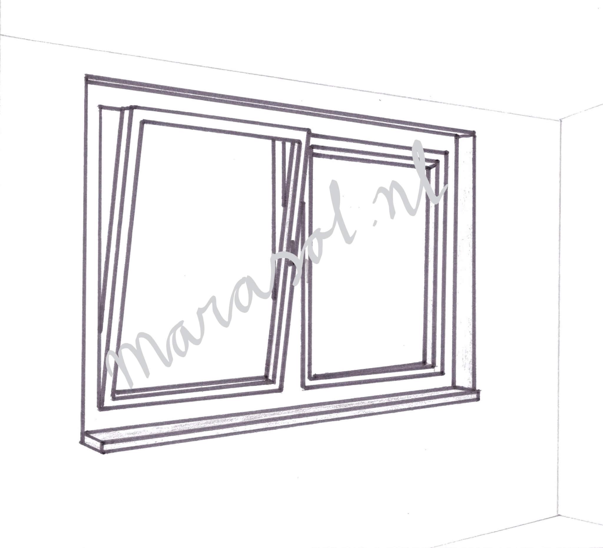 Draai/kiep raam