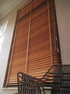 houten jaloezie van bamboe
