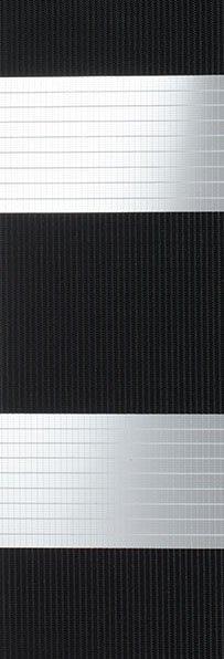 Linee shades 728269, zwart wit, stofbreedte 260 cm