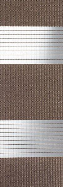 Linee shades 728293, Donker mokka, stofbreedte 260 cm