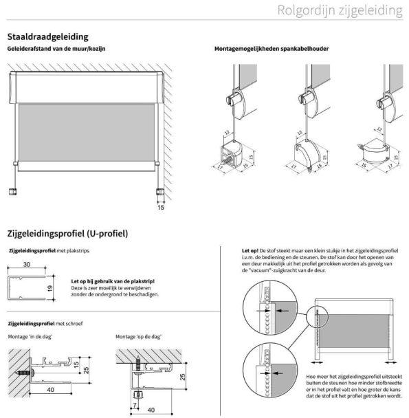 rolgordijn zijgeleiding 1