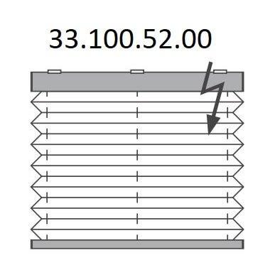 Basis plissé met elektrische bediening, bottom-up (33.100.52.00)