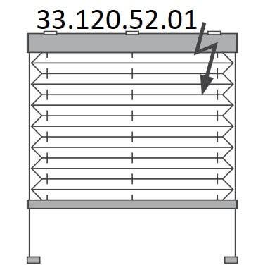 Basis plissé met montageschoenen onderkant en elektrische bediening, bottom-up (33.120.52.01)