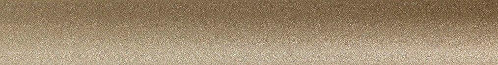 Aluminium jaloezie 'Groep 1' 10.2004 goud zijdeglans – beschikbaar in 25 – 50 mm – bovenbak en onderlat in zelfde kleur als de lamellen