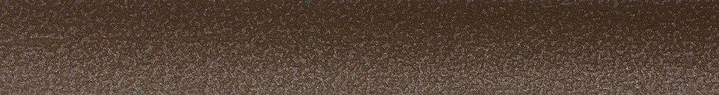 Aluminium jaloezie 'Groep 2' 10.2502 bruin met structuur zijdeglans – beschikbaar in 25 – 50 mm – kleur bovenbak en onderlat: 10.2705 (mat grijs)