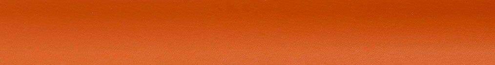 Aluminium jaloezie 'Groep 3' 10.2721 warm oranje mat – beschikbaar in 25 mm – bovenbak en onderlat in kleur 10.2472 (roest zijdeglans)