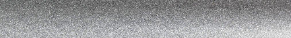 Aluminium jaloezie 'Groep 0' 10.2749 zilver met lichte structuur zijdeglans – beschikbaar in 25 – 50 mm – bovenbak en onderlat in kleur 10.2291 (zilver glans)