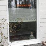 Plisse rolgordijn - Vrijhangend honingraat plissé buitenzijde