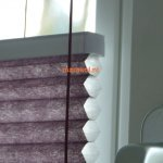 Vrijhangend honingraat plissé paars