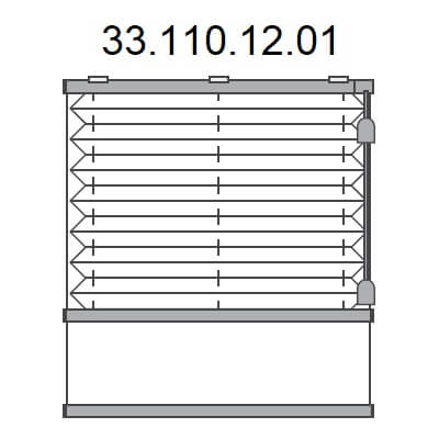 Basis plissé met montageprofiel onderkant en trekkoord, bottom-up (33.110.12.01)