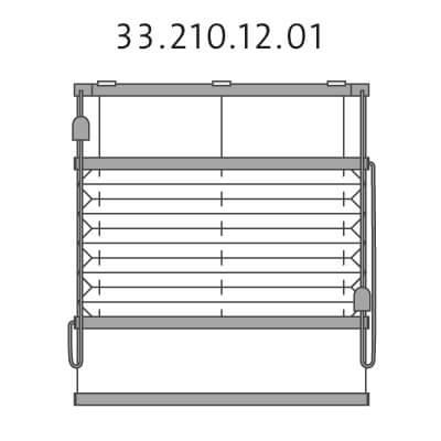 Vrijhangend plissé met montageprofiel onderkant en trekkoord, top-down en bottom-up (33.210.12.01)