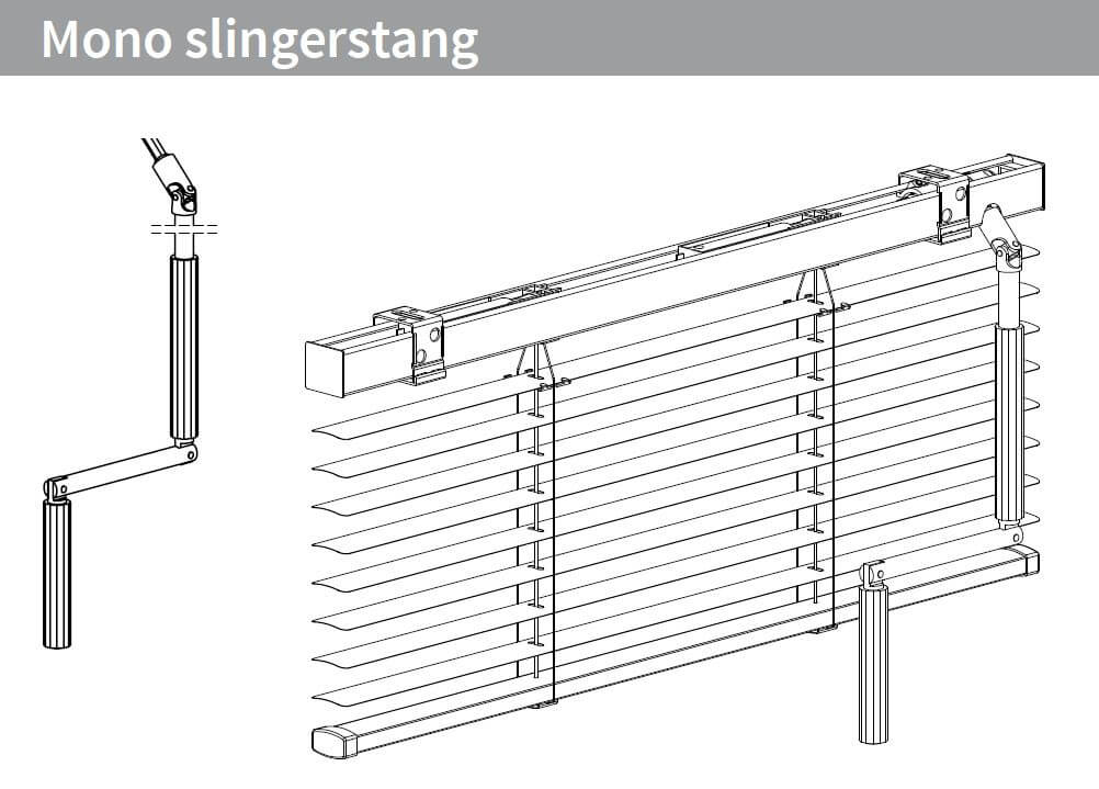 Mono slingerstang links