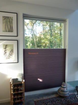 plisse rolgordijn plisses plissegordijnen vrijhangend sfeer foto Marasol