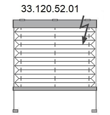Basis plissé met montageschoentjes onderkant en (draadloze) Somfy elektrische bediening, bottom-up (33.120.52.01)