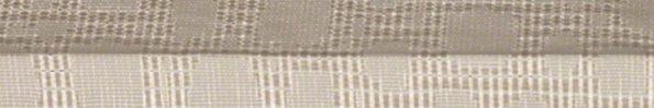 Plisségordijn gebroken wit met werkje 720040