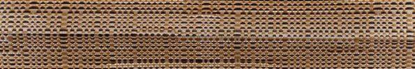 Plisségordijn oranje zwart geweven 720186