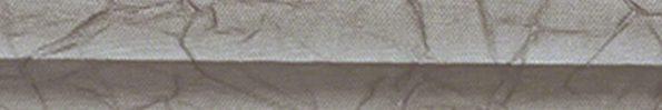 Plisségordijn grijs taupe met kreukelstructuur en zilveren achterzijde 720187