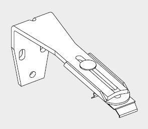 Afstandssteun (wandmontage) 108-156 mm – Wit