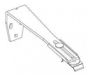 Afstandssteun (wandmontage) 156-204 mm – Wit