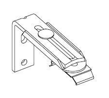 Afstandssteun (wandmontage) 60-108 mm – Wit