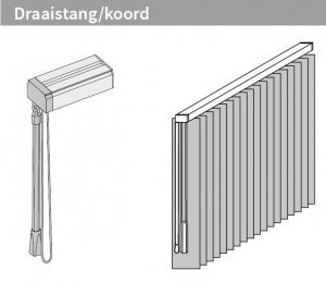 Draaistang/ koord – Links