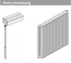 Mono draaistang – Links