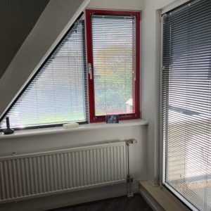 Driehoek jaloezie schuin raam, 25 mm