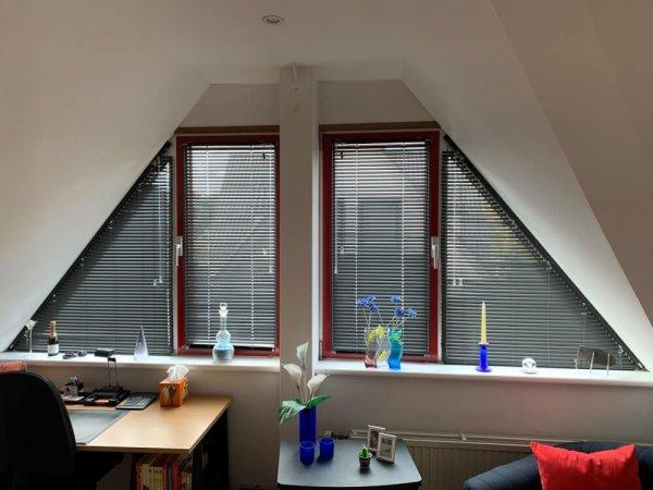 Trapezium jaloezie - schuin raam - raam schuine zijde